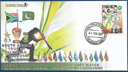 PAKISTAN MNH 2021 PRIVATE SOUVENIR COVER PAKISTAN CRICKET MATCH TEST MATCH FLAG 4 FEB 2021 - Pakistan
