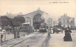 GARES Avec TRAIN - 44 - NANTES : Gare D'Orléans Avec Train à Vapeur En 1er Plan - CPA - Loiret - Stations - Met Treinen