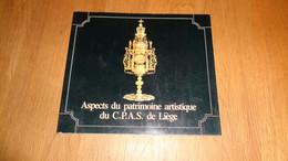 ASPECTS DU PATRIMOINE ARTISTIQUE DU C.P.A.S. DE LIEGE Régionalisme Exposition Beaux Arts Orfèvrerie Peinture Sculpture - Belgio