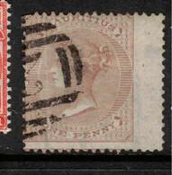 MAURITIUS 1863 1d Bistre QV SG 58 U #AYV6 - Mauritius (...-1967)