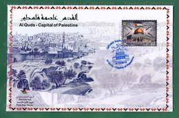 2019 Palästina Palestino Palestina - AL QUDS Capital Of PALESTINE 1v Official FDC - Islam, Holy Site, Joint Issue Arab L - Palestina