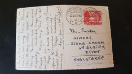 Lausanne - Used In Cossonay - Sent To Stoke Canon Exeter England - Used Stamps