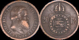Brésil - 1869 - 20 Reis - PETRUS II D.G.C.IMP. ET PERP.BRAS.DEF. - L003(DRE) - Other - America