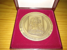 Medalha - CNE Corpo Nacional De Escutas - Agrupamento 200, 60 Anos, Polvoreira, Guimarães - Bronzi