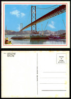 PORTUGAL COR 58554 - LISBOA - PONTE SOBRE O TEJO BATEAU BOAT SHIP CARGO - Lisboa