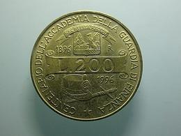 Italy 200 Lire 1996 Centenario Accademia Della Guardia Di Finanza - 200 Lire