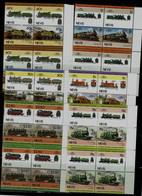 NEVIS 1985 TRAINS BLOCK OF 4 MI No 280-91 MNH VF!! - Trenes