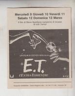 CINEMA VOLANTINO PUBBLICITARIO USCITA FILM E.T. - Posters