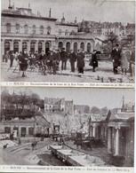 ROUEN - RECONSTRUCTION De La GARE - RUE VERTE - ETAT Des TRAVAUX à FIN MARS 1913 Par ROLLAND - SERIE De 6 CPA - - Rouen