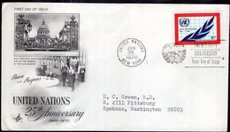 United Nations - 1970 - Lettre - FDC - ONU 25th Anniversary - A1RR2 - Briefe U. Dokumente