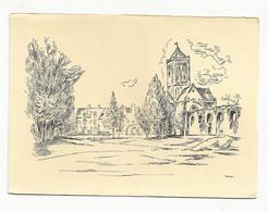 LA HAYE-PESNEL--illustrateur M-E WREDE --Abbaye De La Lucerne --L' église Et L'aqueduc - Altri Comuni