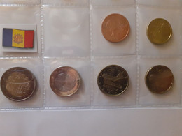 EURO SET OF 6 COINS ANDORRA 2014 UNC FROM 5C TO 2E - Andorre