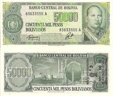 Bolivia P196, 5 Cents, Mayor Gualberto Villaroel / Refinery UNC Was 50,000! - Bolivia