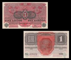 Austria P49, 1 Krone, 1916, Oesterreichisch-ungarische Bank, Womens Heads UNC - Austria