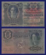 Austria P53, 20 Kronen, 1913, Oesterreichisch-ungarische Bank, Womens Heads VF - Austria