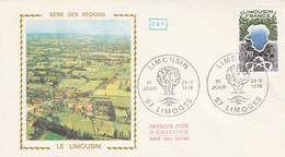 FDC 1976 REGION LIMOUSIN - 1970-1979