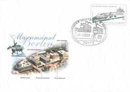 Germany Postal Stationary Museumsinsel Berlin Posted Stuttgart 2003 119 Jahre Zahnradbahn  (DD28-47) - Trenes