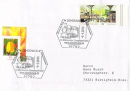 Germany Cover Posted Zehdenick 2009 10. Märkisches Dampfspetakel (DD28-47) - Trenes