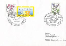 Germany Cover Posted Semmatal-Cranzahl 2002 3. Böhmisch-Sächsisches Eisenbahnfestival  (DD28-47) - Trenes