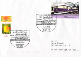 Germany Cover Posted Meiningen 2009 XV Dampfloktage W/ill. Of Locomotive  (DD28-47) - Trenes