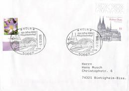 Germany Cover Posted Köln 150 Jahre Köln Hauptbahnhof (DD28-47) - Trenes