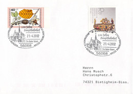 Germany Cover Posted Koblenz 2002 100 Jahre Hauptbahnhof  (DD28-47) - Trenes