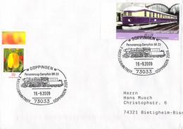 Germany Cover Posted Göppingen 2009 Personenzug Dampflok BR 23 W/ill. Of Locomotive  (DD28-47) - Trenes