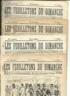 4 NUMEROS DES FEUILLETONS DU DIMANCHE - 1850 - 1899
