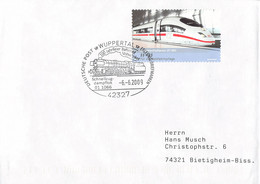 Germany Cover Posted Wuppertal 2009 100 Jahrfeier Bahnhof Vohwinkel - And Ill. Of Schnellzug Dampflok 01 1066 - Trenes