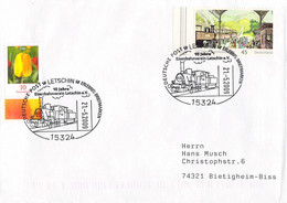 Germany Cover Posted Letschin 2009 10 Jahre Eisenbahnverein Letschin (G115-69A) - Trenes