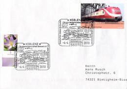 Germany Cover Posted Koblenz 2010 175 Jahre Eisenbahn In Deutschland (G115-69A) - Trenes