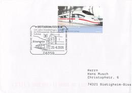 Germany Cover Posted Breitenbrunn/Erzgeb. 2009 120 Jahre Eisenbahngeschichte Im Pöhlwassertal (G115-69A) - Trenes
