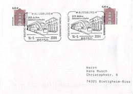 Germany Cover Posted Augsburg 2009 111 Jahre Ammerseebahn (G115-69A) - Trenes