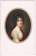 J027 Illustrateur Portrait De FEMME En MEDAILLON - Andere Zeichner
