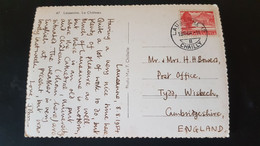 Lausanne - Sent To Tydd Wisbech England - Used Stamps