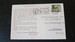 Switzerland - Used In Zurich - Sent To Voorburg Netherlands - K.L.M. Vertegenwoordiging Zurich - Used Stamps