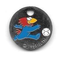 Jeton De Caddie  Sport  Foot-ball, Coupe Du Monde  FRANCE 98  Avec Sponsor  CANON  Recto  Verso - Einkaufswagen-Chips (EKW)