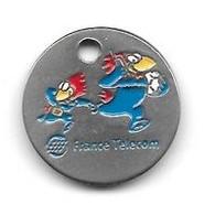Jeton De Caddie  Sport  Foot-ball, Coupe Du Monde  FRANCE 98  Avec Sponsor  FRANCE  TELECOM - Einkaufswagen-Chips (EKW)
