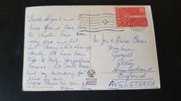 Lac Leman - Sent To Alston England - Used Stamps