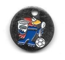 Jeton De Caddie  Sport  Foot-ball, Coupe Du Monde  FRANCE 98  Avec  Sponsor  DANONE  Recto  Verso - Einkaufswagen-Chips (EKW)