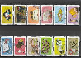 FRANCE 2016 ISSU DU CARNET EXPRESSIONS INSPIRES PAR LES ANIMAUX LA SERIE OBLITERE ROND - YT 1312 A 1323 - KlebeBriefmarken