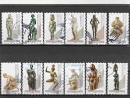 FRANCE 2019 ISSU DU CARNET LE NU DANS L ART LA SERIE OBLITERE ROND - YT 1695 A 1706 - KlebeBriefmarken
