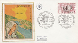 FDC 1978 RATTACHEMENT DE SAINT BARTHELEMY - 1970-1979