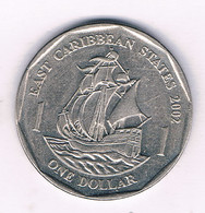 1 DOLLAR 2002  EAST CARIBBEAN STATES /7129/ - West Indies