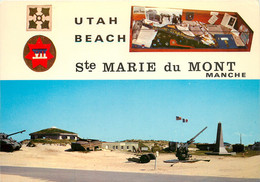 CPSM Sainte Marie Du Mont-Utah Beach-Débarquement-Multivues  L935 - Altri Comuni