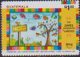 GUATEMALA, 2020, MNH, UPAEP, HEALTH, CHILD DRAWING,1v - Otros
