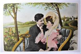 COUPLES - En Voiture - 1911 - Couples