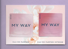 ARMANI * MY WAY  *  CARD  + 2 PATCH *V/R - Profumeria Moderna (a Partire Dal 1961)