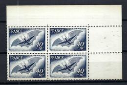 FRANCE Poste Aérienne 1948: Le Y&T 23 En Bloc De 4 CDF Neufs** - 1927-1959 Postfris