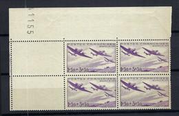 FRANCE Poste Aérienne 1934: Le Y&T 7 En Bloc De 4 CDF Neufs**, Forte Cote - 1927-1959 Postfris